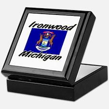 Ironwood Michigan Keepsake Box
