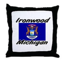 Ironwood Michigan Throw Pillow
