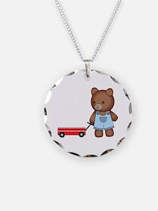 Boy Teddy Bear Necklace