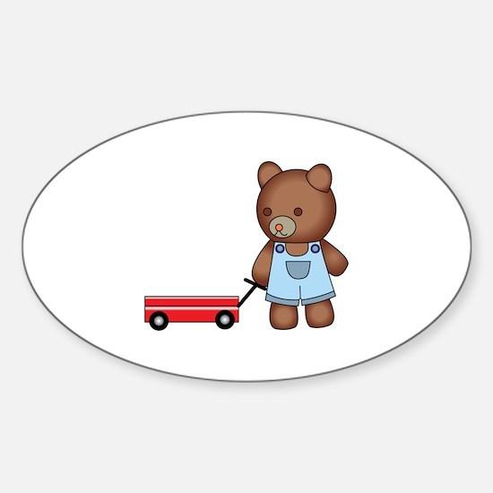 Boy Teddy Bear Decal