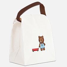 Boy Teddy Bear Canvas Lunch Bag