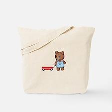 Boy Teddy Bear Tote Bag