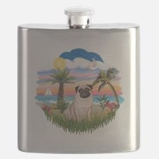 Palms - Fawn Pug 17.png Flask
