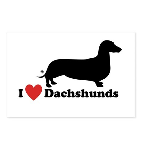 I love Dachshunds Postcards (Package of 8)