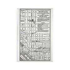 Vintage Buffalo Map - Hotel for Invalids Rectangle
