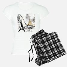 Girly stilettos paris Eiffe Pajamas