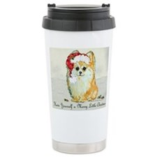 Unique Pomeranian christmas Travel Mug