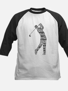 Golf Golfer Typography Baseball Jersey