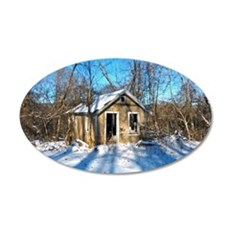 Old House in the Snow Wall Decal