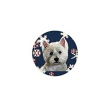 Unique Westie christmas Mini Button