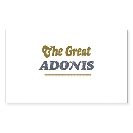 Adonis Rectangle Sticker