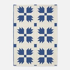 Bear Paw Quilt Pattern 5'x7'Area Rug