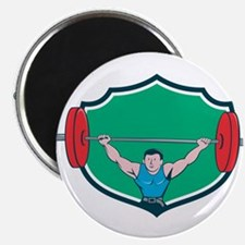 Weightlifter Deadlift Lifting Weights Shield Carto