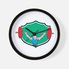 Weightlifter Deadlift Lifting Weights Shield Carto