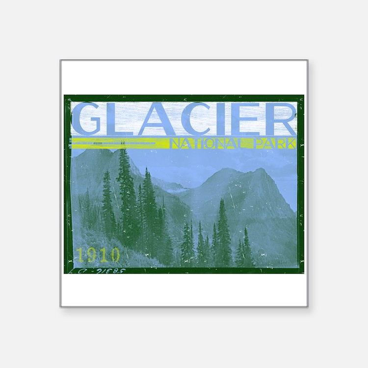 Glacier National Park Mountains Sticker