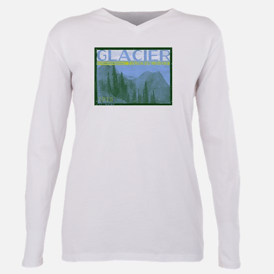 Glacier National Park Mo Plus Size Long Sleeve Tee