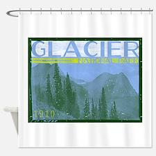 Glacier National Park Mountains Shower Curtain
