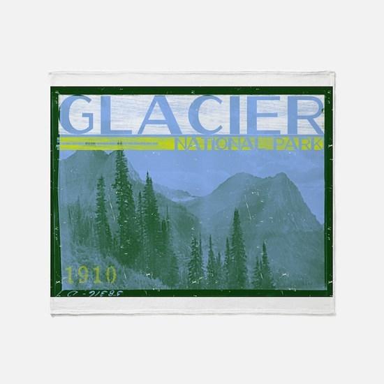 Glacier National Park Mountains Throw Blanket