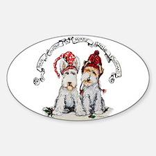 Fox Terrier Christmas Decal