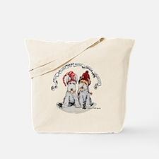 Fox Terrier Christmas Tote Bag