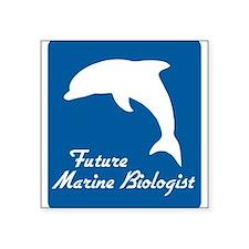 """Cute Aquarium Square Sticker 3"""" x 3"""""""