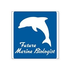 "Unique Marine biology Square Sticker 3"" x 3"""