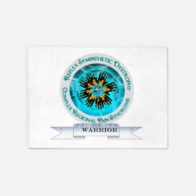 CRPS RSD Warrior Starburst Shield 5'x7'Area Rug