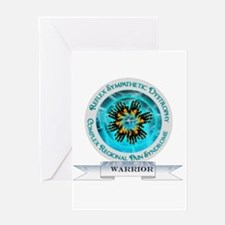 CRPS RSD Warrior Starburst Shield Greeting Cards