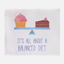 A Balanced Diet Dessert Humor Throw Blanket