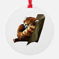 Funny Red panda Ornament