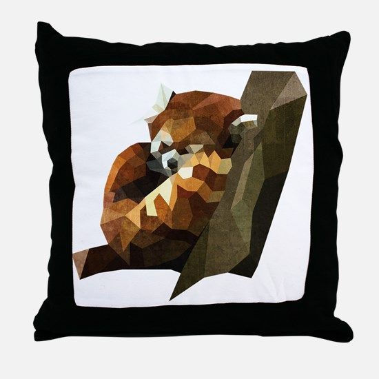 Cool Red panda Throw Pillow