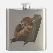 Cool Red panda Flask
