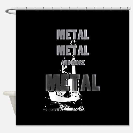 Metal, Metal and More Metal Shower Curtain