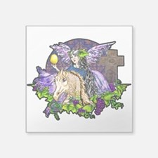 "Gothic Cross And Fairy Eve Square Sticker 3"" x 3"""