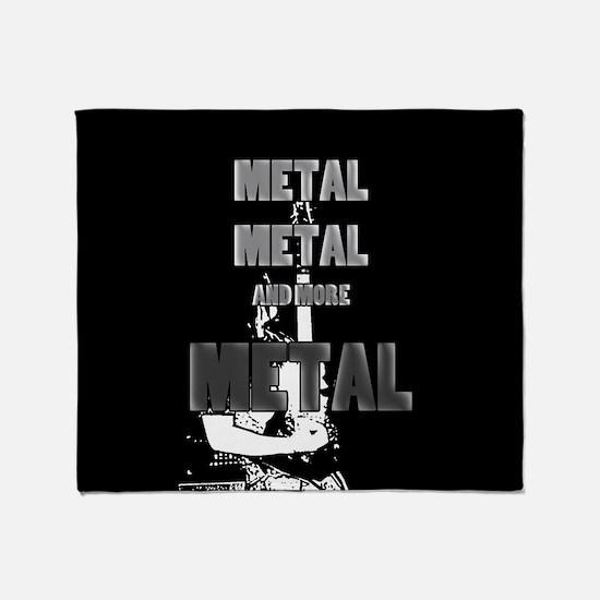 Metal, Metal and More Metal Throw Blanket