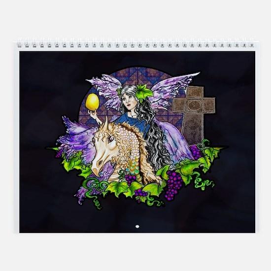 Gothic Cross And Fairy Eve Wall Calendar