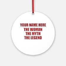 Custom Woman Myth Legend Round Ornament