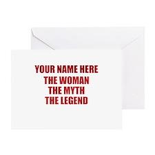 Custom Woman Myth Legend Greeting Card