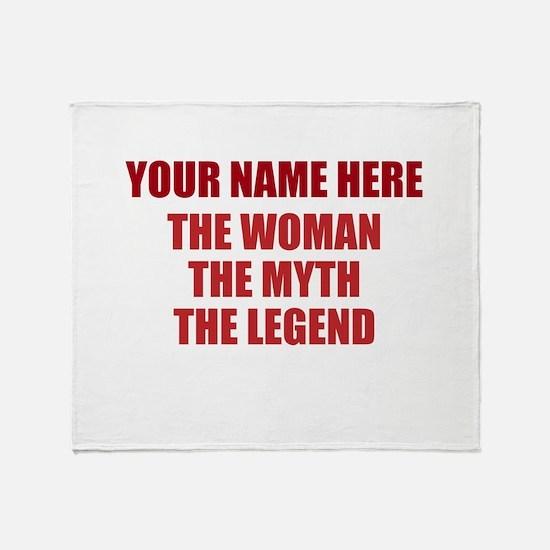 Custom Woman Myth Legend Throw Blanket