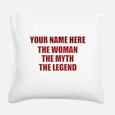 Custom Woman Myth Legend Square Canvas Pillow
