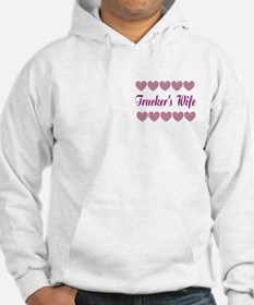 Truckers Wife With Hearts Hoodie