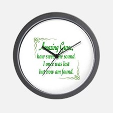 Funny Amazing grace Wall Clock