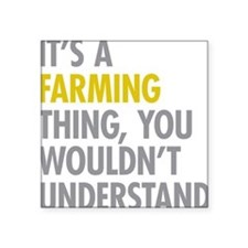 "Cute Farming Square Sticker 3"" x 3"""