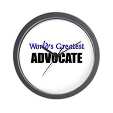 Worlds Greatest ADVOCATE Wall Clock
