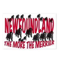 merry newfoundlands Postcards (Package of 8)