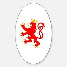 Unique Luxembourg Sticker (Oval)