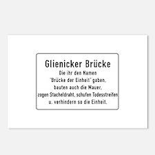 Glienicker Brücke, Cold War Berlin Postcards (Pack