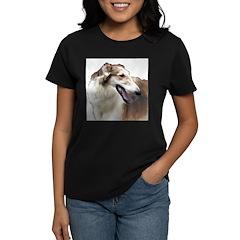 Red & White Borzoi  Women's Dark T-Shirt