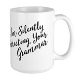 Silently correcting your grammar Large Mugs (15 oz)