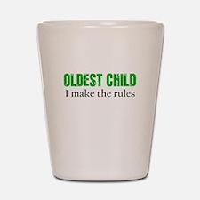 OLDEST CHILD (green) Shot Glass